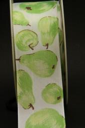 Obst Äpfel grün mit Drahtkante 40 mm 20 m