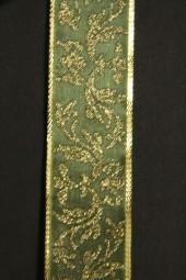 Gold Dust Art grün Girlandenmotiv gold 25 mm 25 m