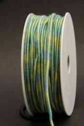 Kordel mit Draht grün blau 2 mm 25 m