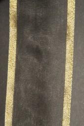 Lugano schwarz Goldrand 40 mm 15 m