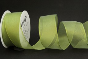Allegra hellgrün mit Draht 40 mm 15 m