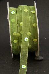 Pailletten grün 10 mm 20 m