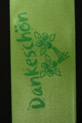 Dankeschön grün 40 mm 25 m