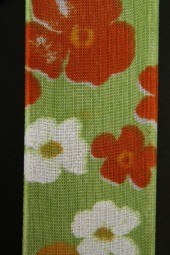 Lovely Blumenmotiv grün orange 40 mm 15 m