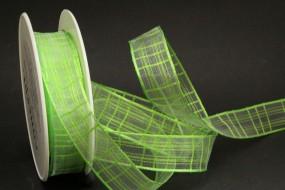 Cosma hellgrün Gitterband 25 mm 20 m