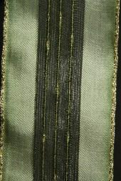 Verde grün mit Goldrand 50 mm 25 m