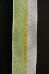 Debera grün weiss mit Drahtkante 25 mm 20 m