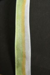 Debera grün weiss mit Drahtkante 15 mm 20 m
