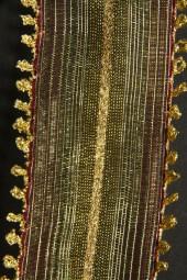Pharao dunkelrot gold mit Drahtkante 40 mm 15 m
