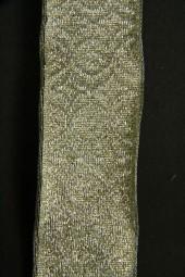 Major hellgrün metallic mit Drahtkante 25 mm 20 m