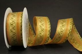 Symphonie braun gold mit Drahtkante 40 mm 20 m
