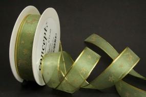 Lillebror grün gold Hirschmotiv 25 mm 25 m