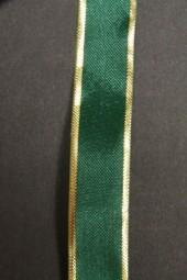 Prestige grün mit Goldrand 15 mm 25 m