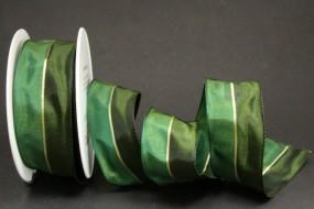 Pirol grün mit Goldstreifen 40 mm 20 m