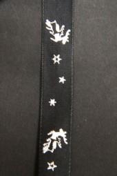 Frosty Hirschmotiv schwarz silber 15 mm 25 m