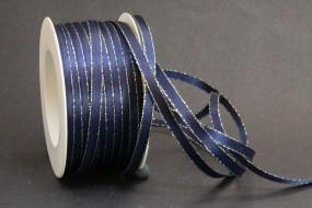 Winter dunkelblau mit Goldrand 6 mm 50 m