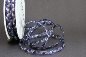 Benin Girlande blau silber 10 mm 20 m