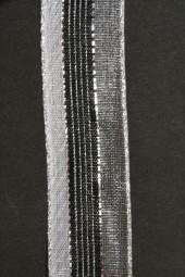 Paros schwarz silber 25 mm 15 m