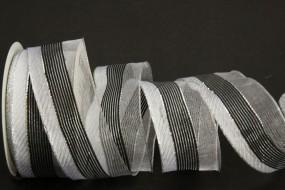 Paros schwarz silber 40 mm 15 m