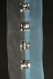 Weihnacht 22 blau grau mit Drahtkante 40 mm 10 m