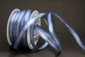 Sambia hellblau silber mit Drahtkante 8 mm 20 m