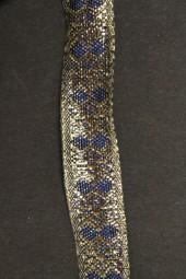 Gold-Blue mit Drahtkante 15 mm 15 m
