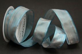 Allegra blau mit Draht 25 mm 15 m