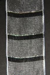 Gauß weiss schwarz mit Drahtkante 40 mm 15 m