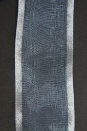Lugano hellblau mit Silberrand 40 mm 15 m