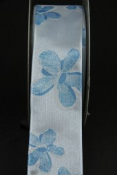 Christina weiss Blumenmotiv hellblau 40 mm 20 m