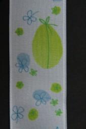 Saison hellblau grün mit Drahtkante 40 mm 20 m