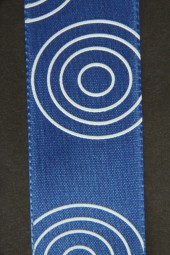 Crazy blau Kreise weiss 40 mm 25 m