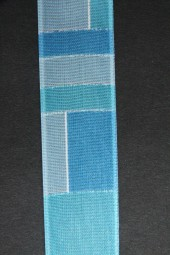 Desiree hellblau mit Drahtkante 25 mm 20 m