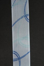 Curly hellblau weiss mit Drahtkante 25 mm 20 m