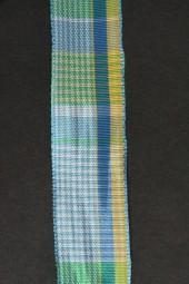 Borneo blau gelb kariert 25 mm 20 m
