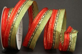 Impalla rot grün mit Drahtkante 25 mm 15 m