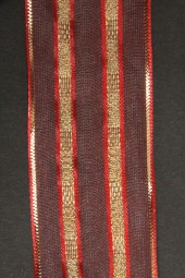 Milva rot gold mit Drahtkante 40 mm 20 m