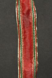 Indigo rot grün mit Goldrand Drahtkante 25 mm 20 m