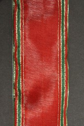 Indigo rot grün mit Goldrand Drahtkante 40 mm 20 m