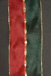 Raute rot grün mit Goldrand 40 mm 25 m