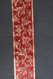 Gold Dust Art rot Girlandenmotiv gold 25 mm 25 m