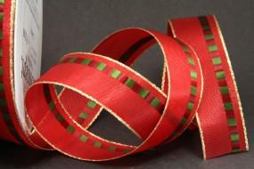 Savoy rot grün mit Goldrand 25 mm 25 m