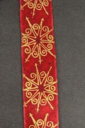 Meridian rot gold mit Drahtkante 25 mm 20 m