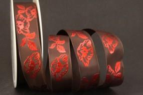 China Rose rot braun 25 mm 25 m