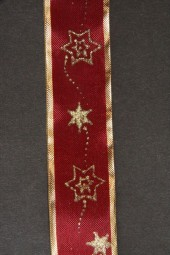 Star dunkelrot Sterne gold 25 mm 25 m