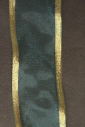 Lugano türkisblau mit Goldrand 40 mm 15 m