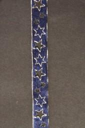 Naurus gestanzt blau silber 12 mm 10 m