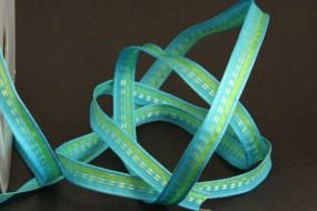 Woven Stripes hellblau hellgrün 10 mm 25 m