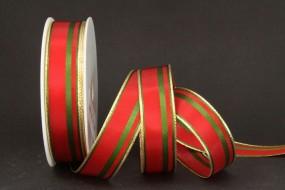 Romance rot grün mit Goldrand 25 mm 25 m