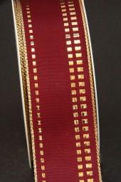 Juwel burgundy gold 40 mm 25 m